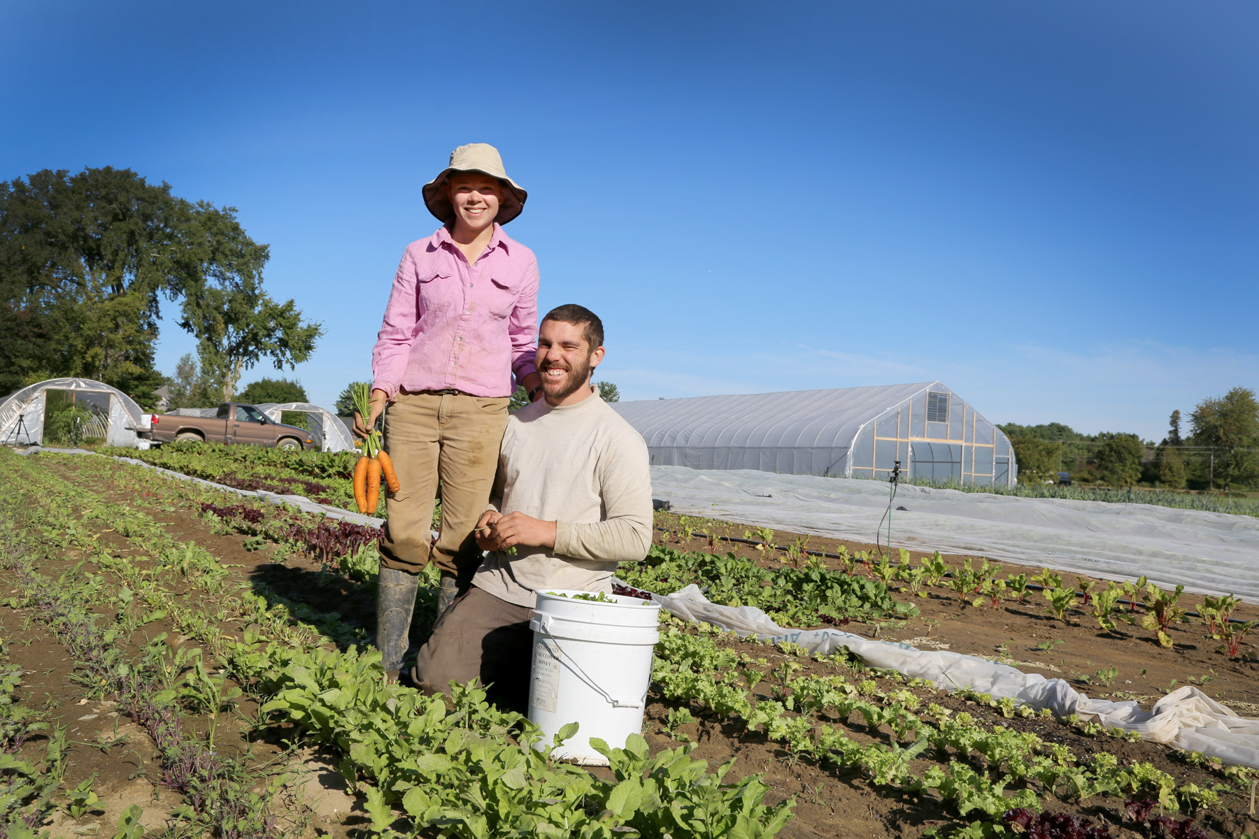 Kelsey Herrington and Dominic Pascarelli, Farmer-Owners of Two Farmers Farm.